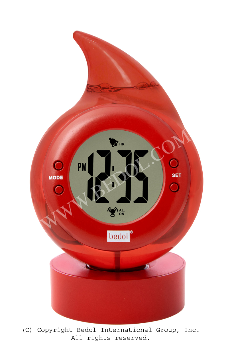 Alarm The Bedol Water Clock Red